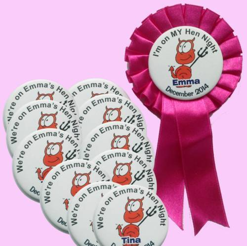 Hen Party Badge Packs