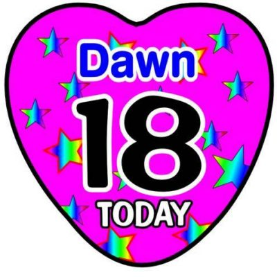 Heart shaped Birthday Badges