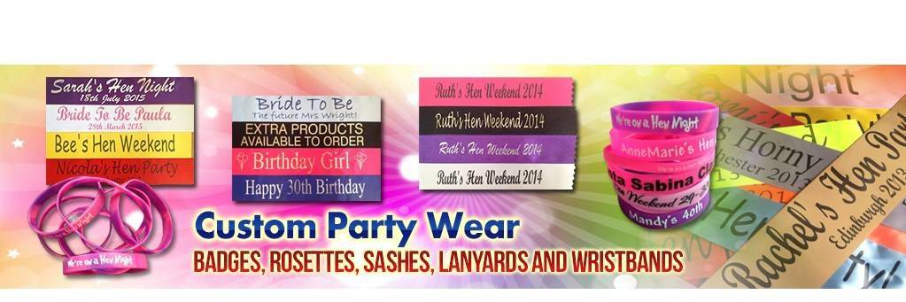 Custom Party Sashes - buy on line now