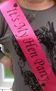 customised sashes for hen nights