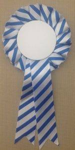 Blue Stripe Rosette