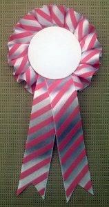 Pink Stripe Rosette