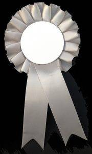 Silver Light Grey Rosette