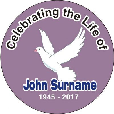 Funeral Badges and Memorial Badges