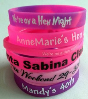 Customised Silicone Wristbands
