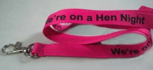 Off the Shelf Lanyards for hen nights