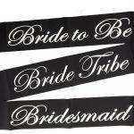 Bride Tribe Sash - Black and White