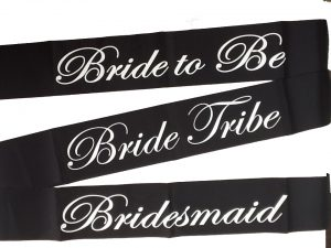 Bride Tribe Sash - Black and White
