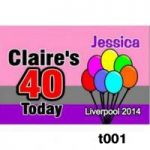 Rectangular Birthday Badges