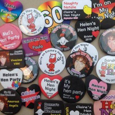 personalised hen Night badges